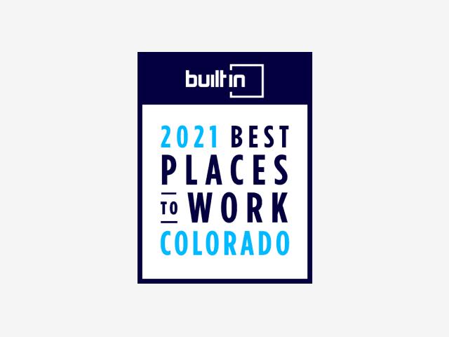 2021年科罗拉多州100个最佳工作场所的标志