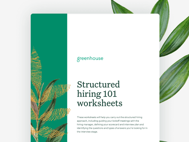 Cover image of Structured Hiring 101 worksheets
