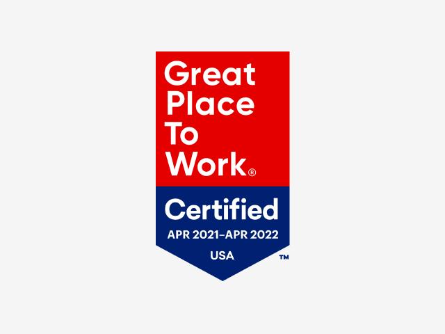 最佳工作场所认证徽章