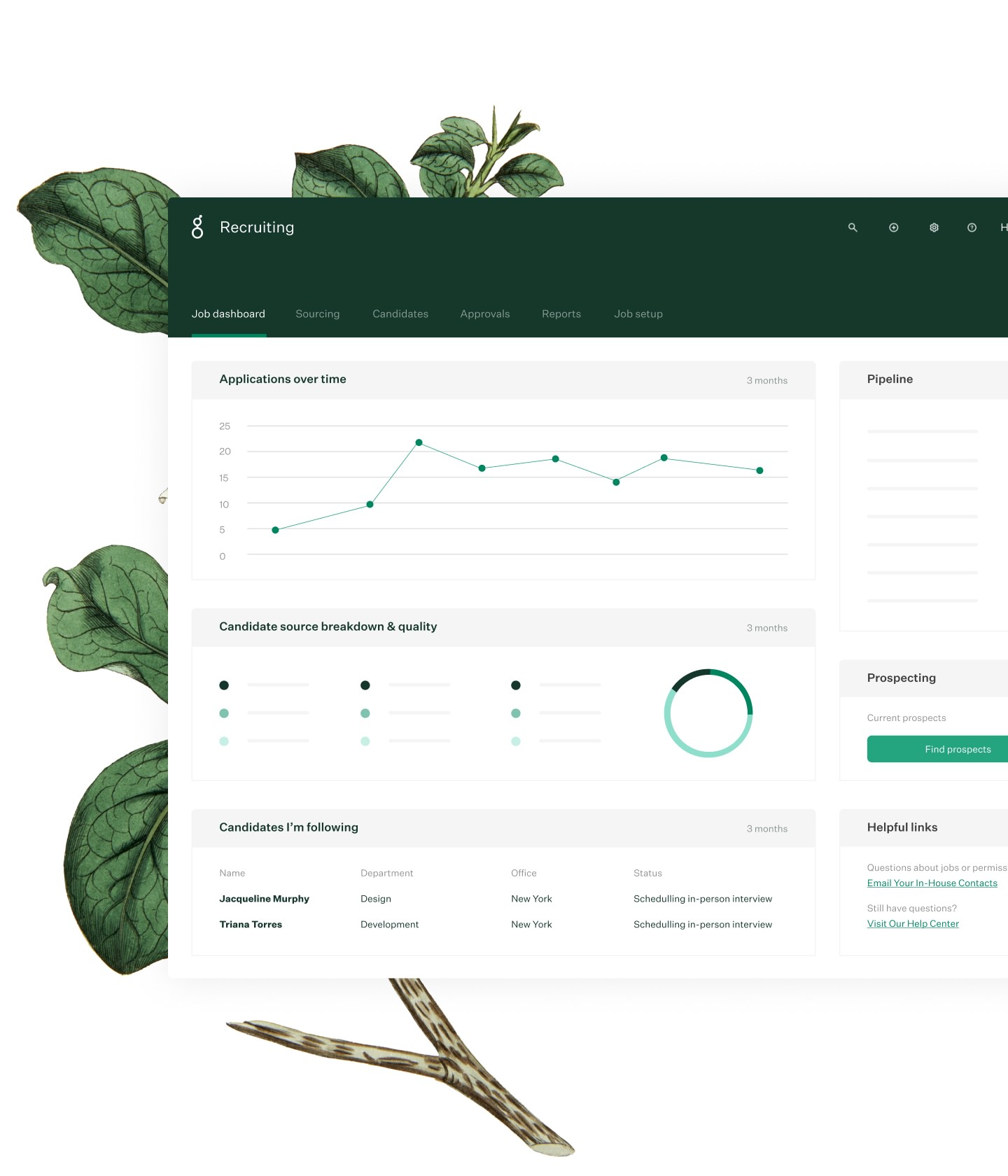 Greenhouse Recruiting dashboard
