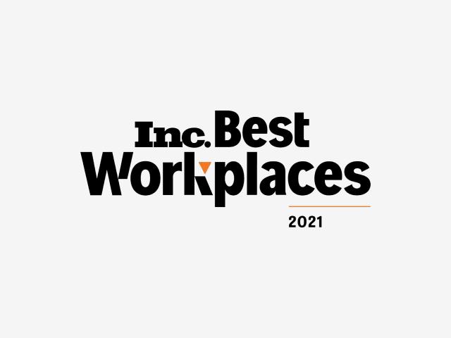 Inc最佳工作场所2021年标志