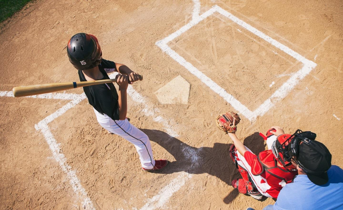 Batter and catcher at baseball plate