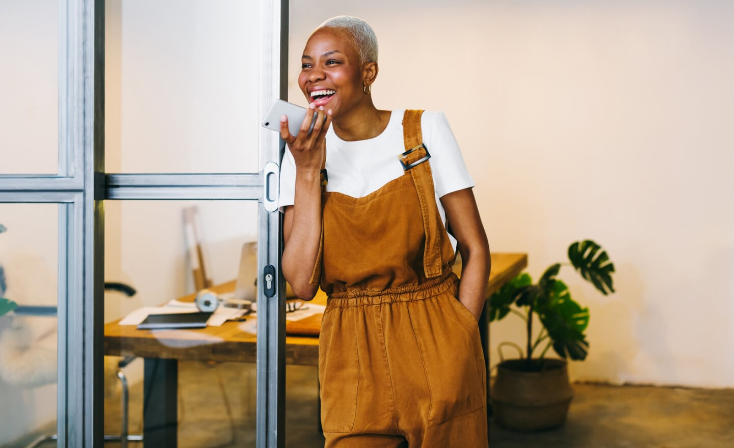 Black woman using a mobile phone