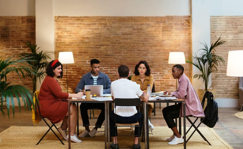 Hiring team application review meeting