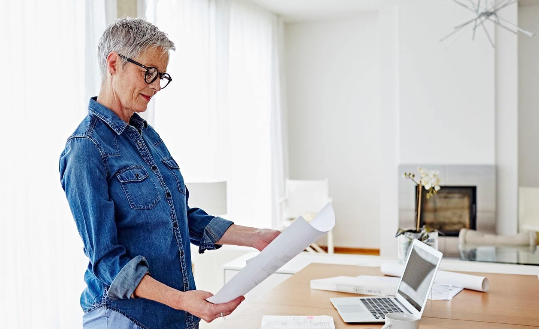 Woman reviewing job applications