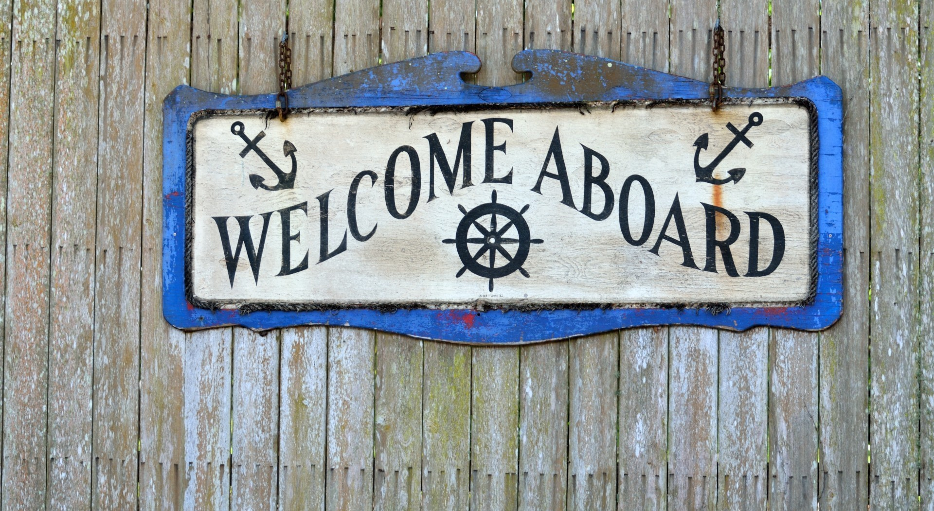 Welcome aboard sign onboarding